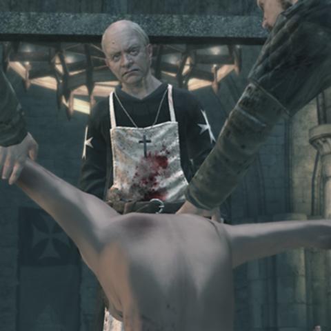 加尼耶看着逃跑的病人