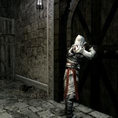 Ezio ouvrant la salle du trésor
