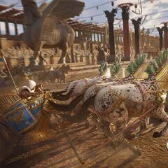 Course de chars dans l'hippodrome d'Alexandrie