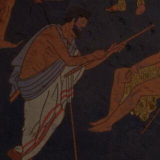 公元前5世纪的一幅描绘了阿伽门农的壁画