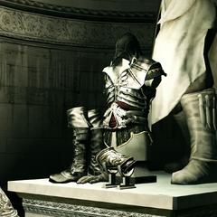 埃齐奥看着阿泰尔铠甲