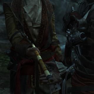 Kidd offrant une sarbacane à Edward