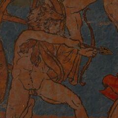 一幅描绘赫拉克勒斯与<a href=