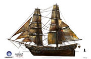 Assassin's Creed IV Black Flag -Ship-Pirate Brig by max qin