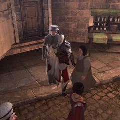 Ezio dérobant l'antidote