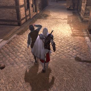 Ezio plaçant les preuves sur Vincenzo