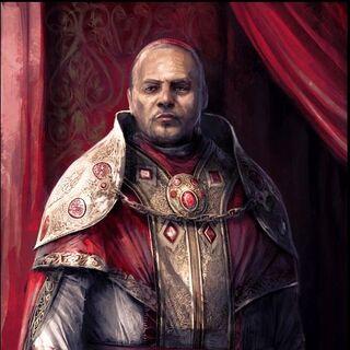Portrait de <b>Rodrigo</b> dans le repaire des Assassins de l'île Tibérine