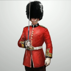 Concept art of a British royal guard
