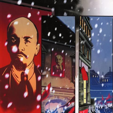 <b>Lénine</b> sur une affiche de propagande bolchevique