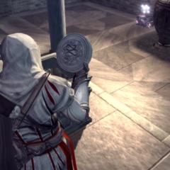 Ezio récupérant le Sceau d'Amunet