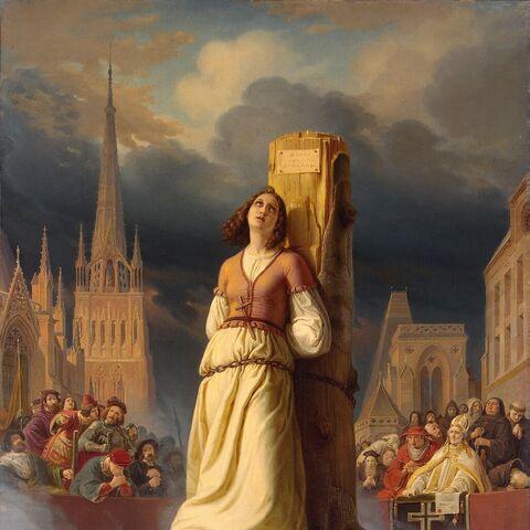 <b>Jeanne d'Arc</b> sur le bûcher