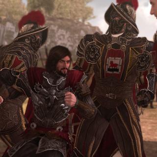Fabio houdt toezicht op Cesare Borgia's arrestatie.