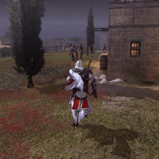 Ezio se hâtant de rejoindre le lieu de l'exécution
