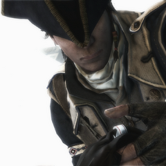 康纳检查英国船长的圣殿骑士戒指