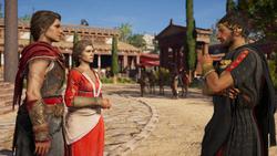 ACOD King Pausanias talking to Kassandra and Myrrine