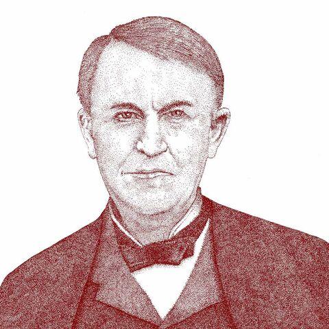 托马斯·爱迪生的一幅画像
