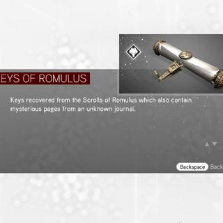 罗穆卢斯卷轴的菜单图像