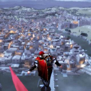埃齐奥在圣天使城堡旗杆顶端