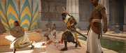 ACO Ambush in the Temple - Bayek Scaring Children