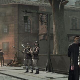 Machiavelli und Ezio sprechen über Savonarola