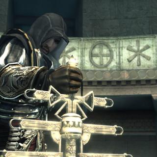 Ezio tentant de reprendre le Bâton papal