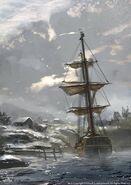 ACRogue nave ancorata concept art