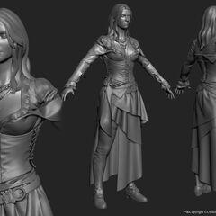 安妮的3D模型