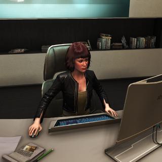 梅兰妮·勒梅在她的办公室