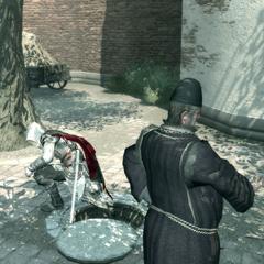 Ezio remontant à la surface