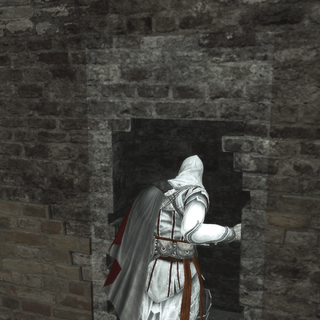 Ezio pénétrant dans la Forteresse de Ravaldino