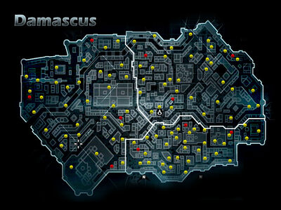 Assassins Creed Karte Damaskus