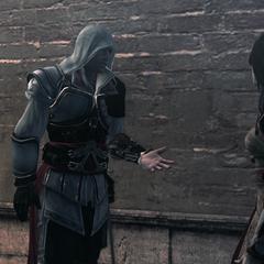 Ezio heeft ruzie met Cristina