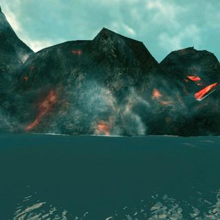 岩浆在水中凝固