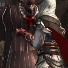 Ezio dood Uberto.