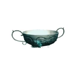 AC4DB - Silver Two-handed Bowl