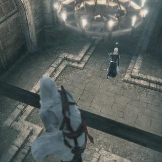Altaïr traquant <b>Garnier</b>