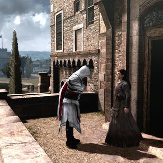 向玛格丽塔致谢并向她道别的埃齐奥