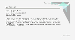 Last Emails from W. Miles to D. Miles 1