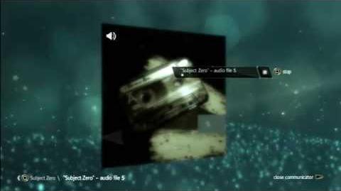 "AE files:""Subject Zero"" - audio file 5"