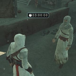 De informant vraagt om Altaïrs hulp.
