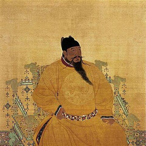 朱棣的一幅画像
