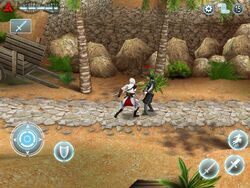 Altaïr Fighting a Templar