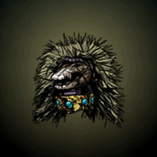 鳄鱼头饰 - 这个头饰代表对鳄鱼的敬意,这原始的动物,代表著全新的开始和全新的潜能。