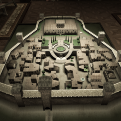 蒙特里久尼的建筑模型