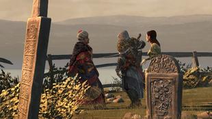 Ezio ruszający z ostrzem na Selima (by Kubar906)