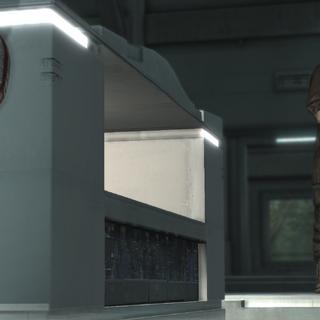 戴斯蒙德·迈尔斯在阿布斯泰戈实验室中躲避丹尼尔