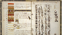 ACO DT - Jean Francois Champollion hieroglyphs
