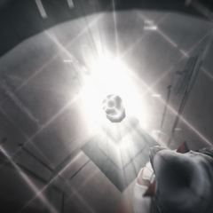 Ezio legt de appel neer in de kerker