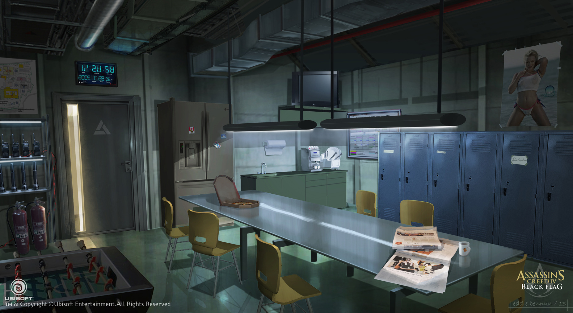 Assassins Creed Iv Black Flag Abstergo Entertainment Staff Room Concept Art By Ed Bennun Jpg