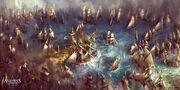 Assassin's Creed IV Black Flag Battle at sea by max qin
